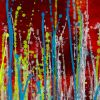 SOLD - Detail - Daring natural synergy | Energetic abstract painting by Nestor Toro (2020)
