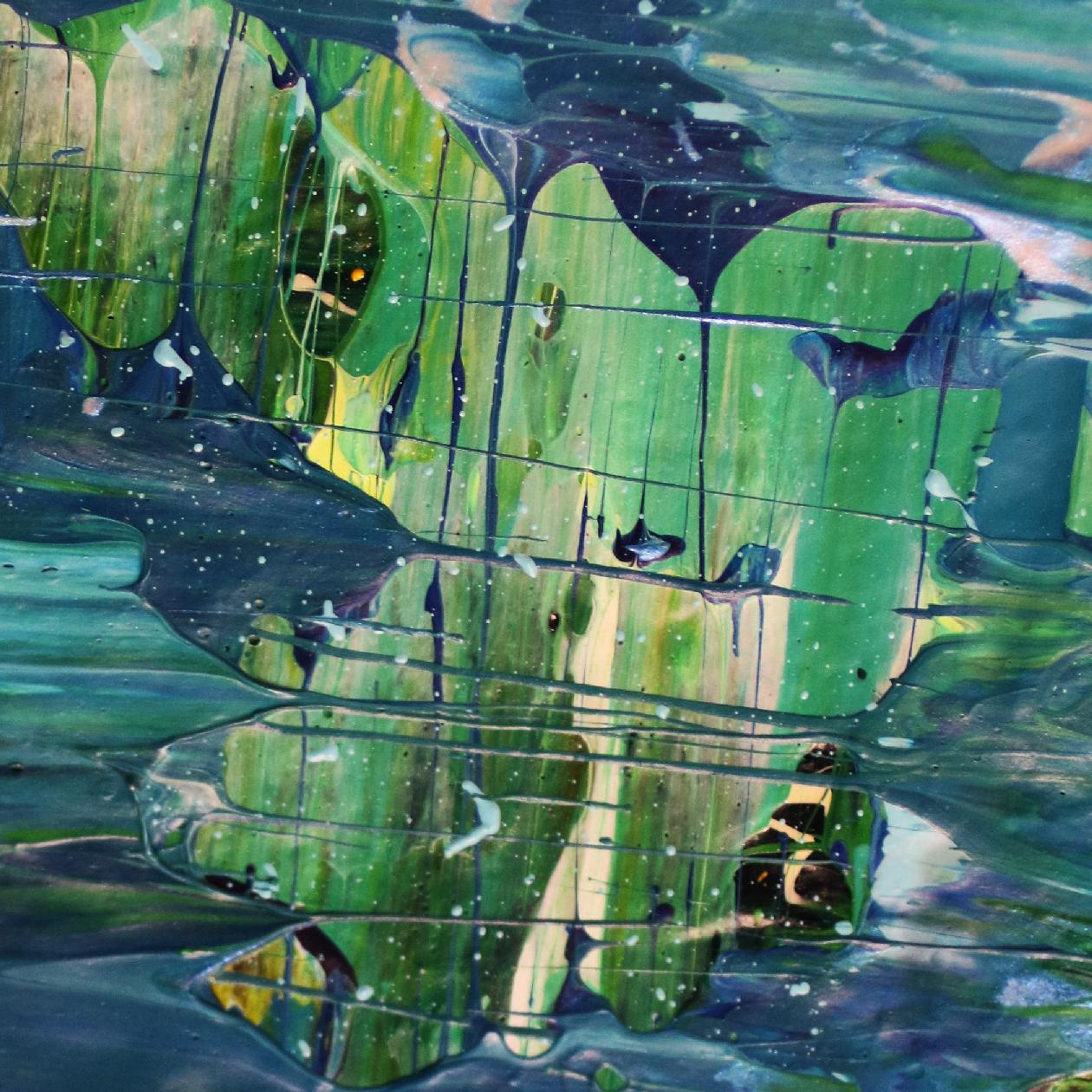 Detail - Blue satin waves 2 by Nestor Toro - 2020 - SOLD
