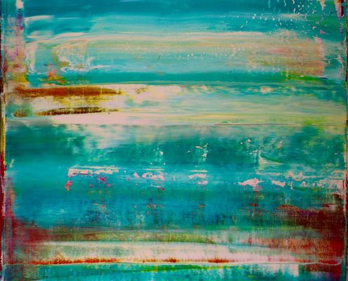 SOLD - Turquoise Terrain and Oasis by Nestor Toro