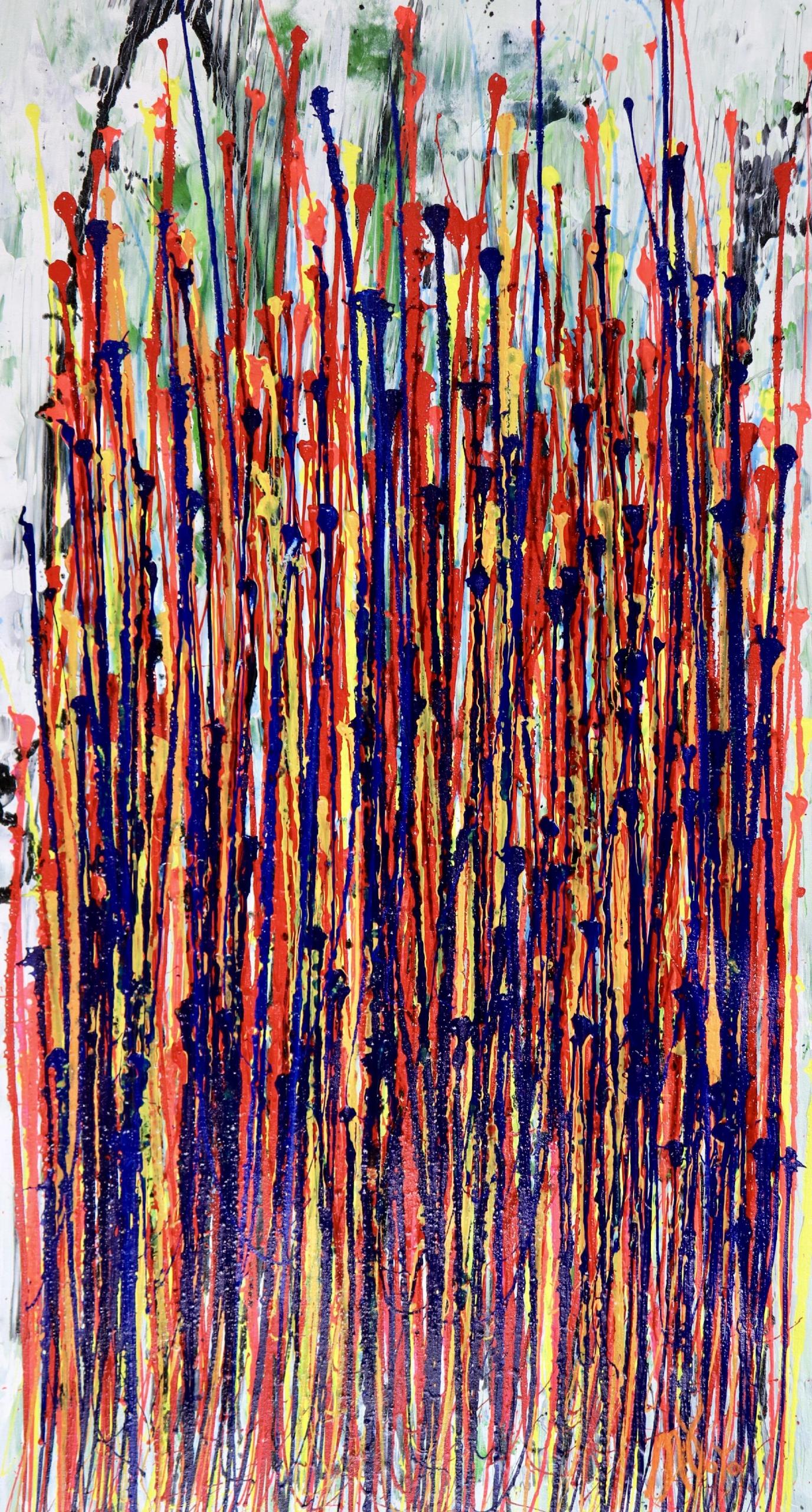 SOLD - Illuminating Garden Spectra 3 (2020) Abstract painting by Nestor Toro