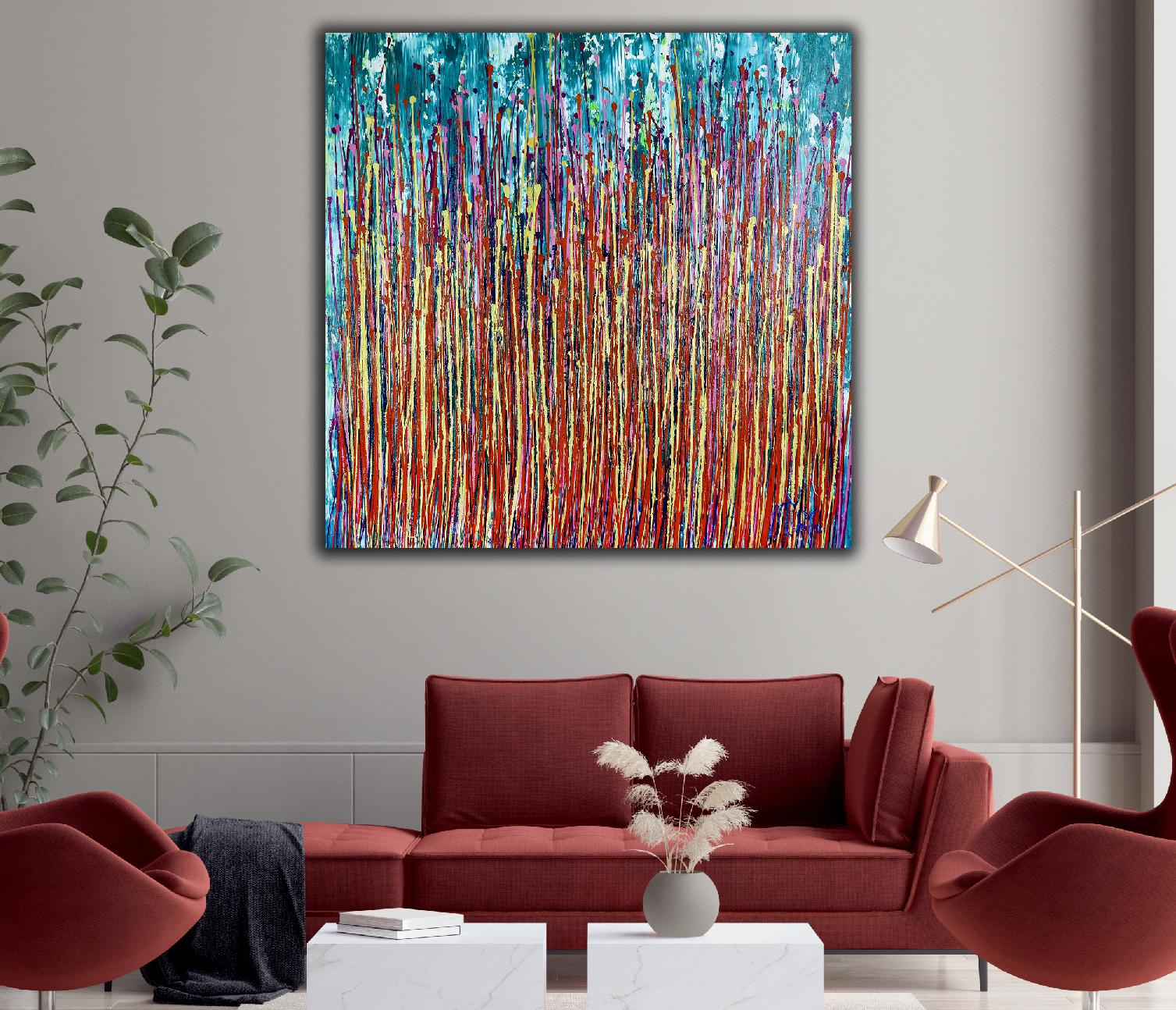 Awakening Garden 5 (2020) Abstract painting by Nestor Toro