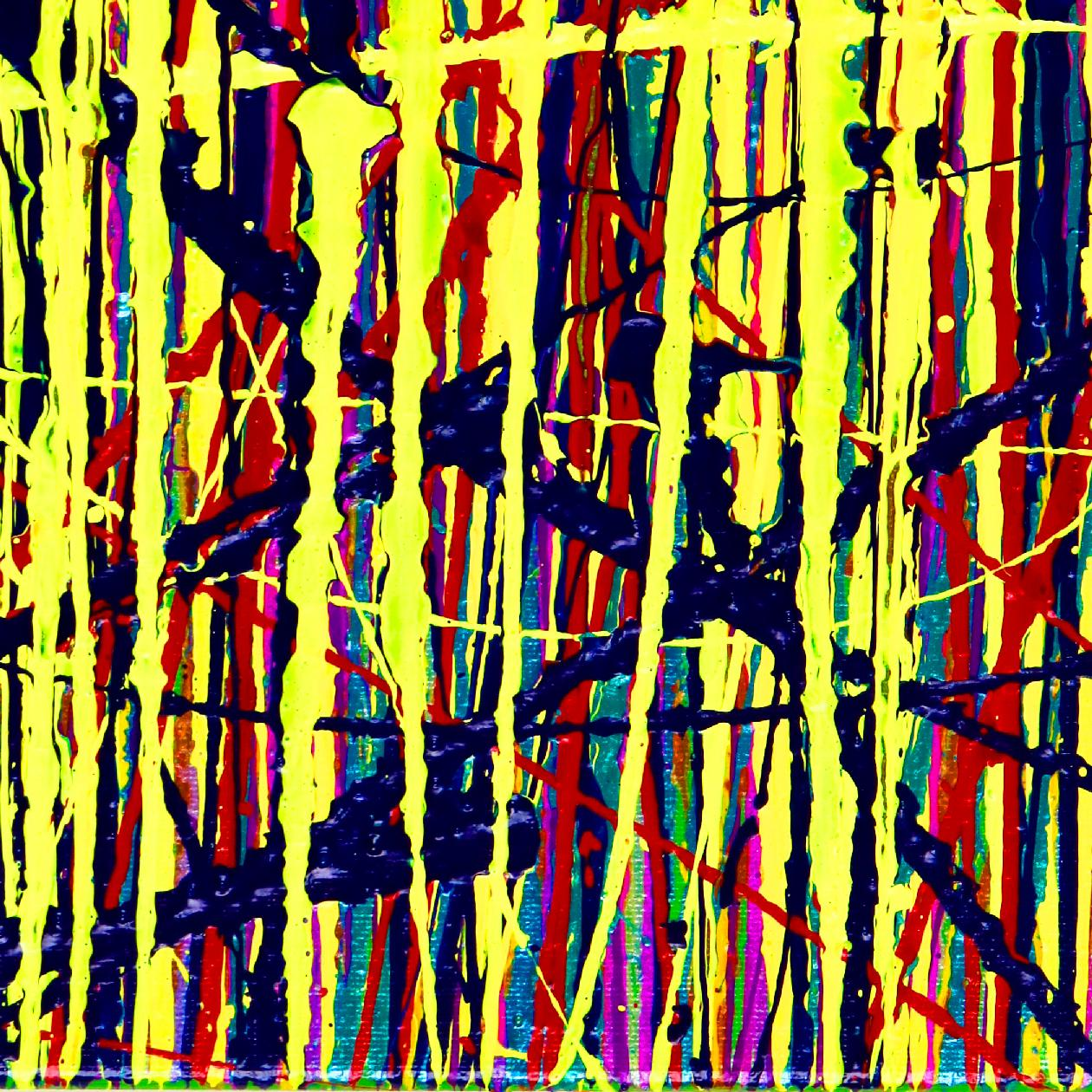 Daydream (Chaos Garden) 2 - Action painting (2020) by Nestor Toro
