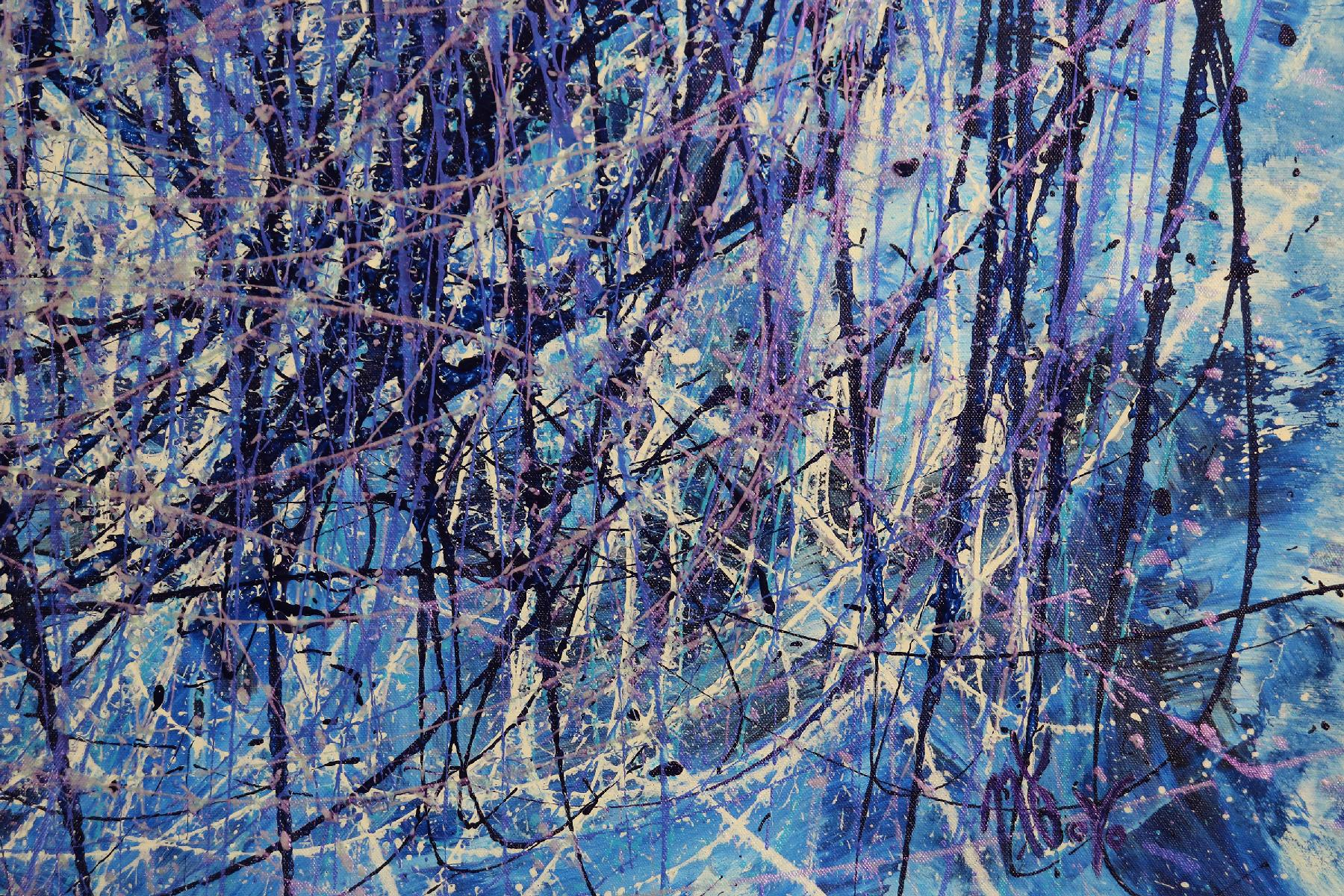 SOLD - Detail - Torrential Purple Storm (A Closer Look) 2 (2020) by Nestor Toro