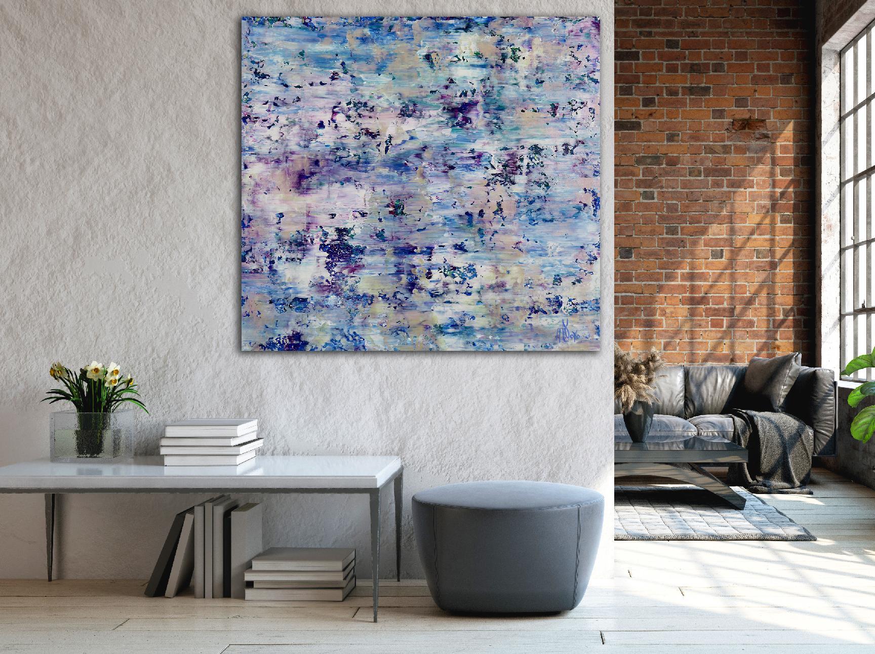 Room View - Purple Refractions (Crystal Core) (2020) by Nestor Toro