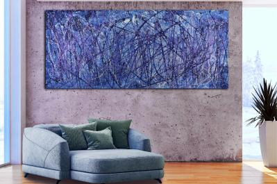 SOLD - Torrential Purple Storm (A Closer Look) 2 (2020) by Nestor Toro