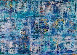 SOLD - Sapphire Spectra (Blue Lakes) (2019) by Nestor Toro