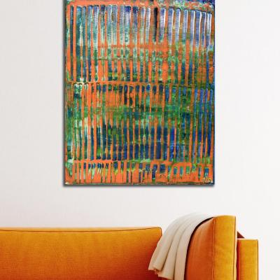 Room View - Orange Panorama (Blue Reflections) (2020) by Nestor Toro