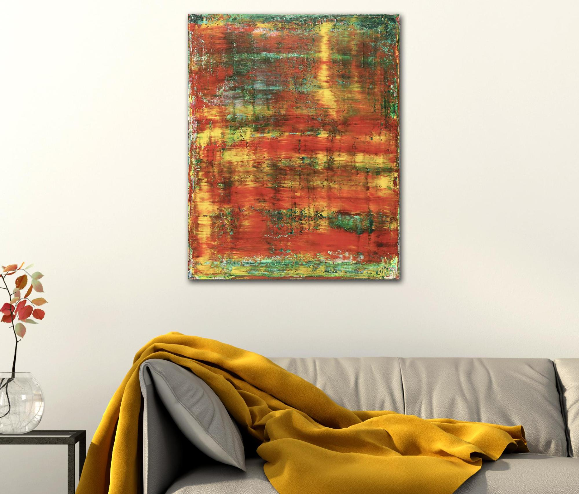 Room View - Rojo Infinito (Fiery Spectra) #1 (2020) by Nestor Toro - SOLD
