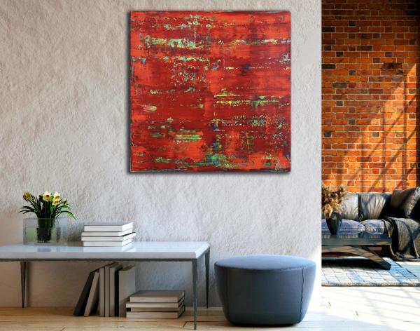 Room View - Rojo infinito (Fiery abstract) 6 (2020) by Nestor Toro