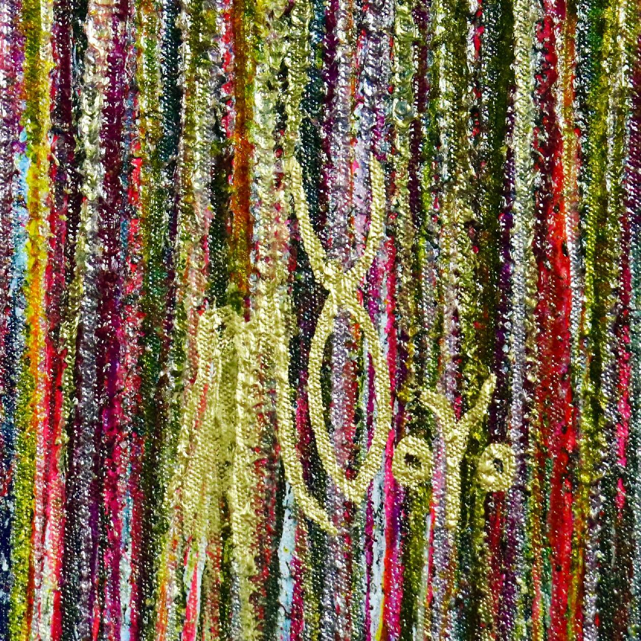 SOLD - Signature - A closer look (Luminance garden) 2 Painting by Nestor Toro