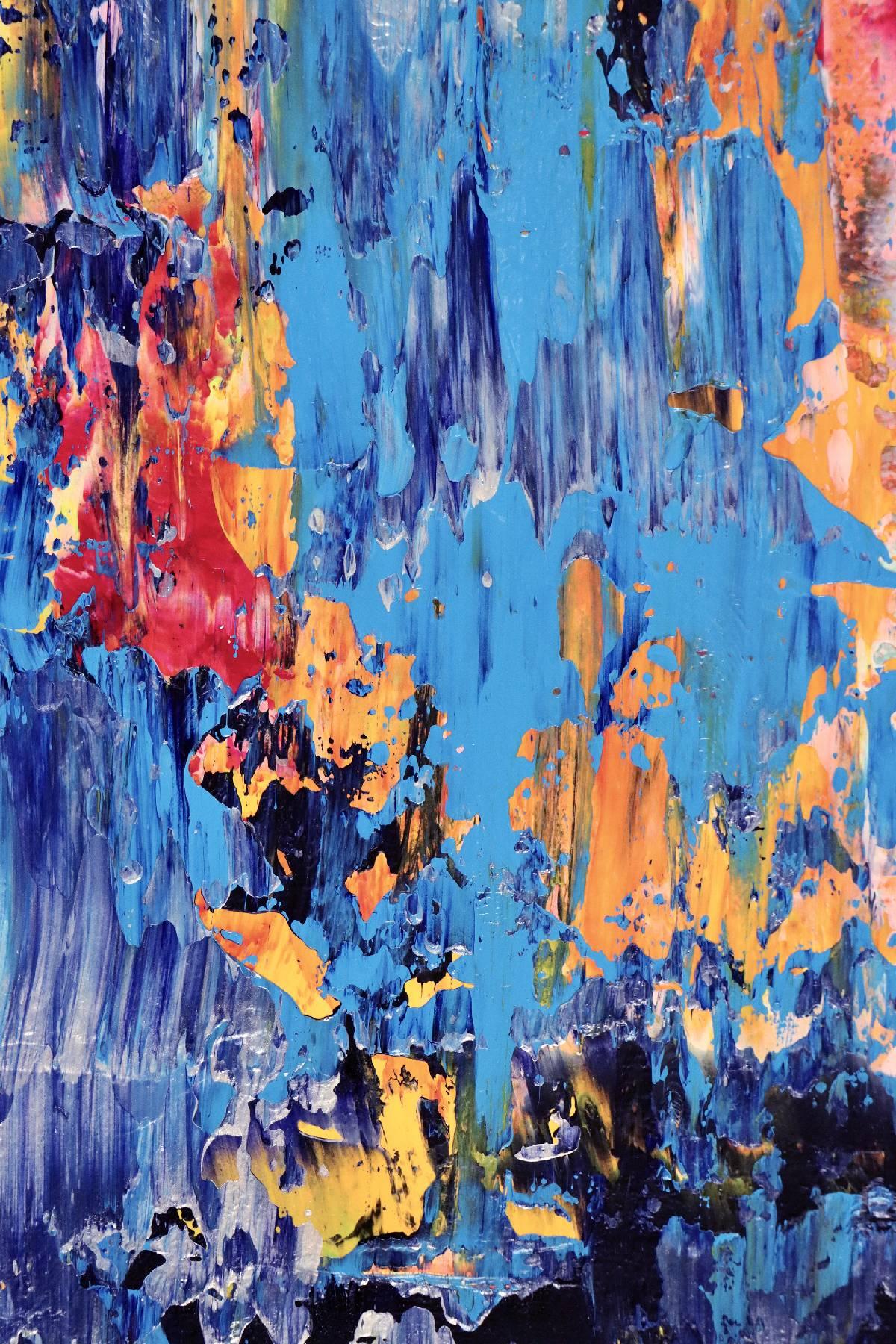 Detail - Rapid Iridescent Cascades (2020) by Nestor Toro