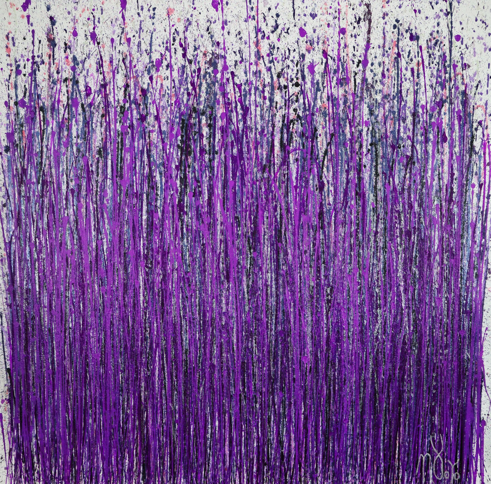 Full-canvas-Provence (Lavender Imagery) (2020) by Nestor Toro