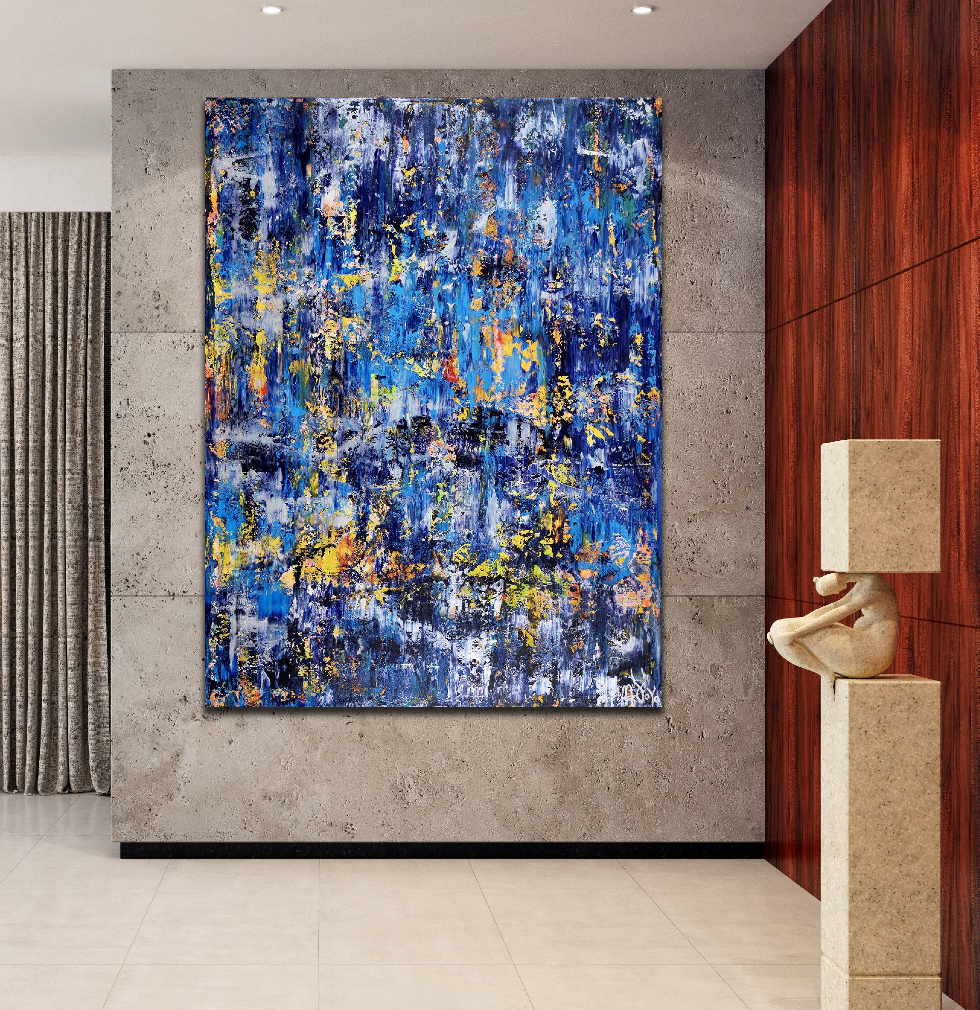 Room View - Rapid Iridescent Cascades (2020) by Nestor Toro