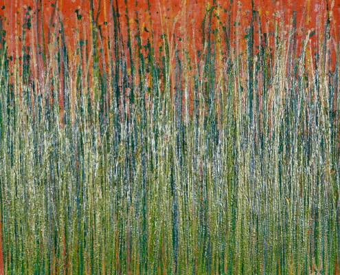 SOLD / Full Canvas - Daydream panorama (Natures imagery) 18 (2020) by Nestor Toro