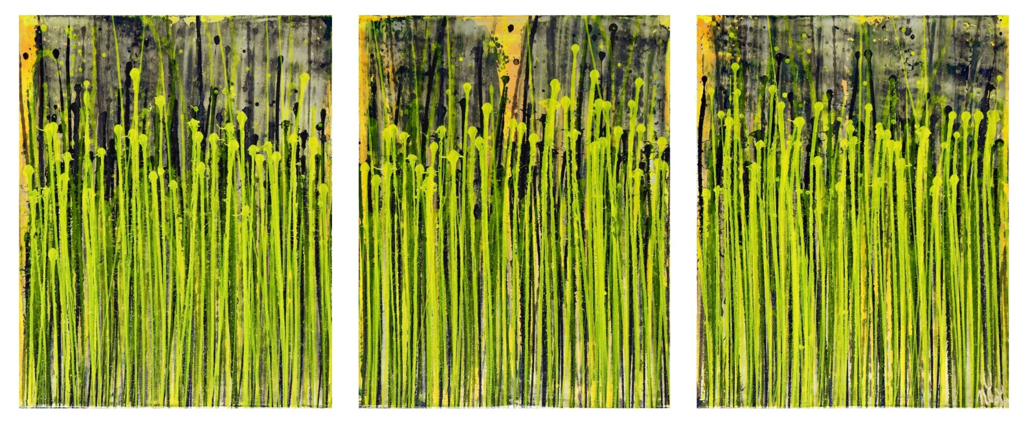 Full Triptych - Daydream Panorama (Natures Imagery) 17 (2020) - Triptych by Nestor Toro