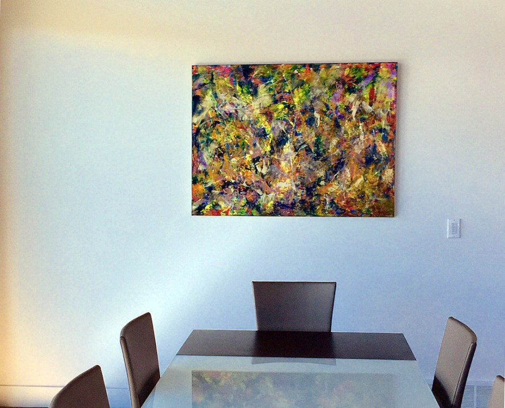 Nestor Toro's abstract work in collector's homes