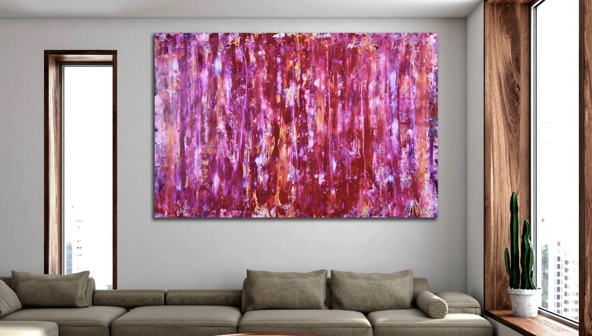 Room View - Iridescent Coral Spectra (2020) by Nestor Toro