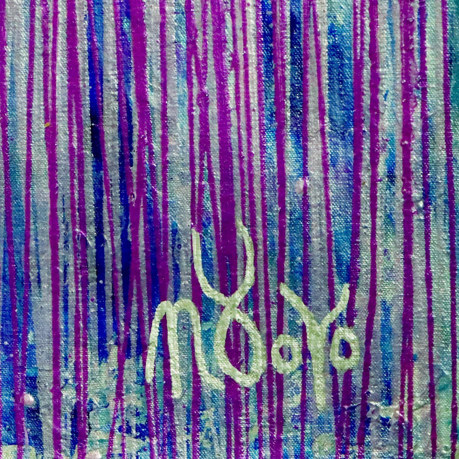 Signatrue - Room View - Purple Spectra (Silver skies) (2020) by Nestor Toro