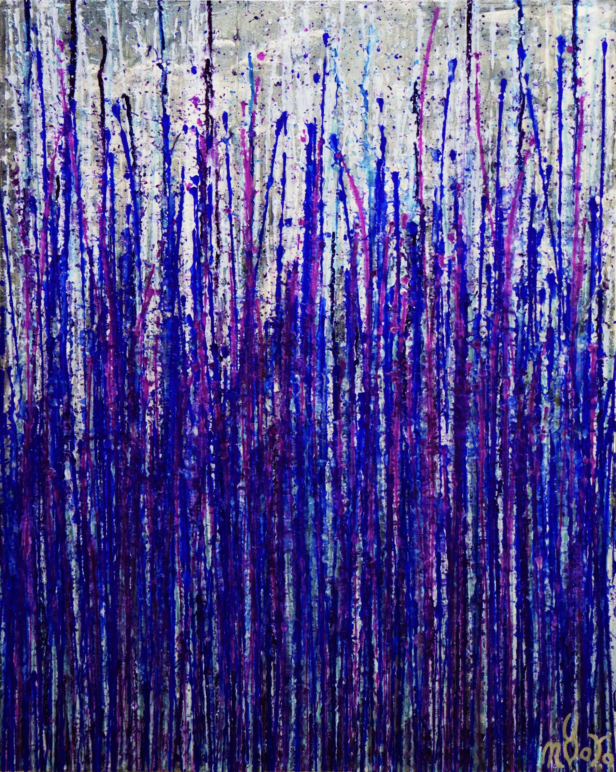 Full canvas - Daring Spectra (Purple Drizzles) (2020) by Nestor Toro