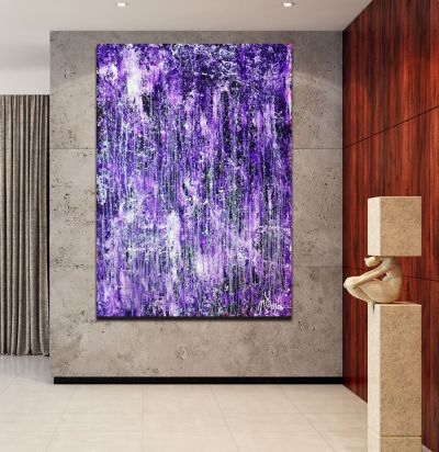 Room View - Rapid Iridescent Cascades (Purple) (2020) by Nestor Toro