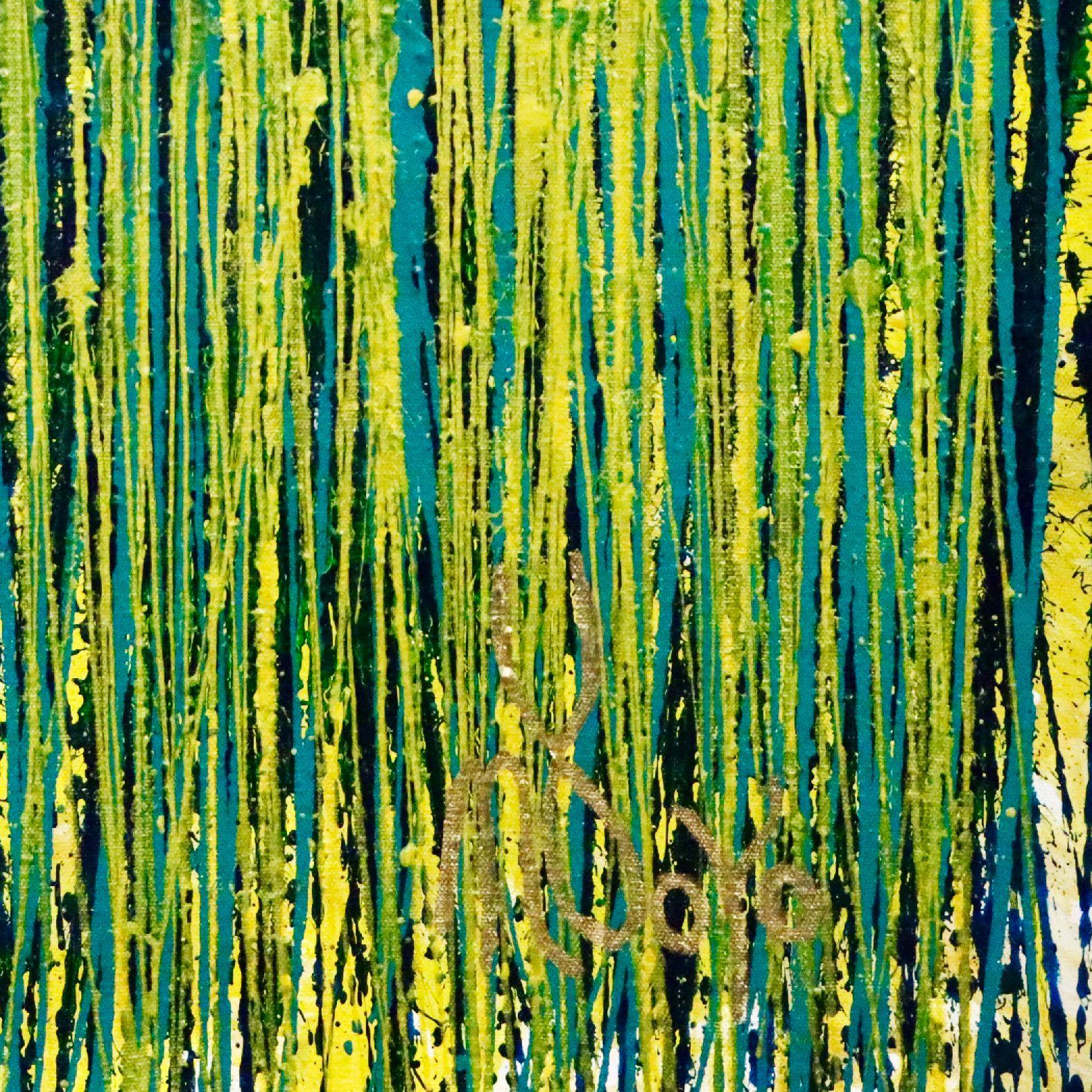 SOLD / Golden Vernal Garden (2020) by Nestor Toro