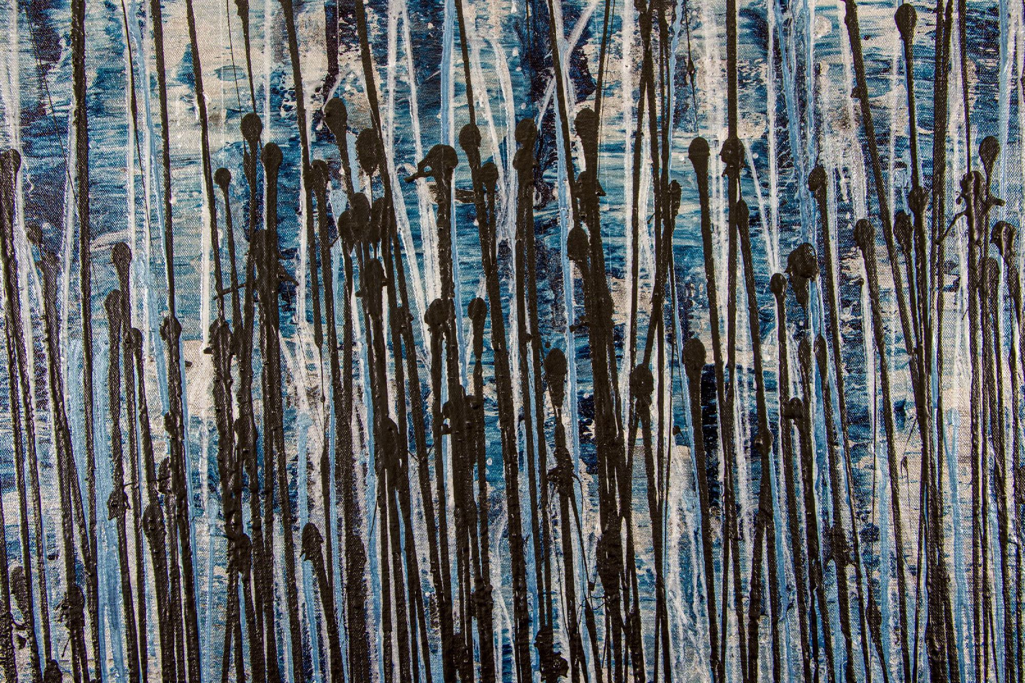 Nighttime Fearlessness 2 (2020) - Original Abstract Expressionist painting by Nestor Toro