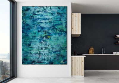 Room View / The Deepest Ocean (Turquoise spectra) 2 (2020) by Nestor Toro
