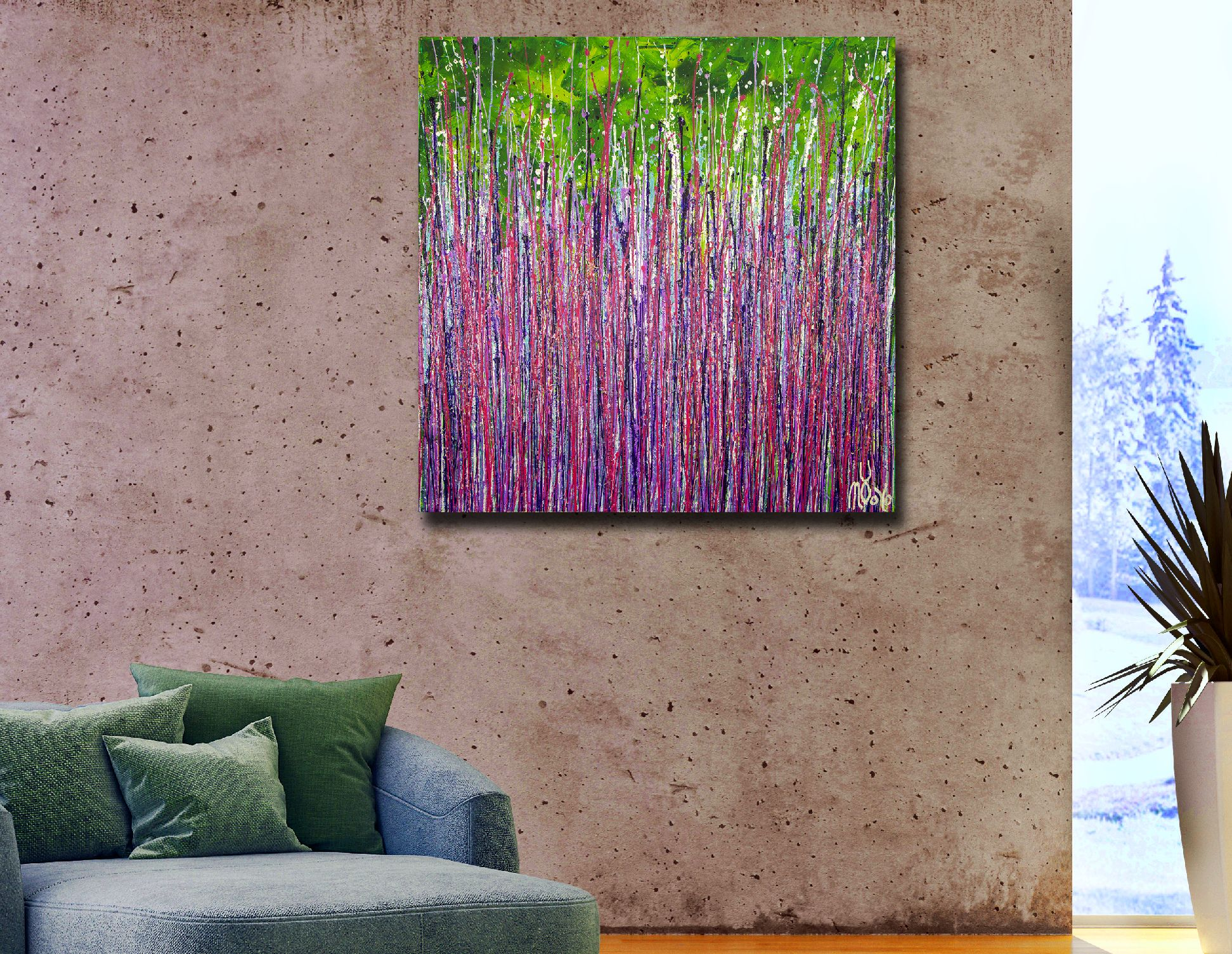 Garden in motion 3 (2020) by Nestor Toro / 30x30 inches