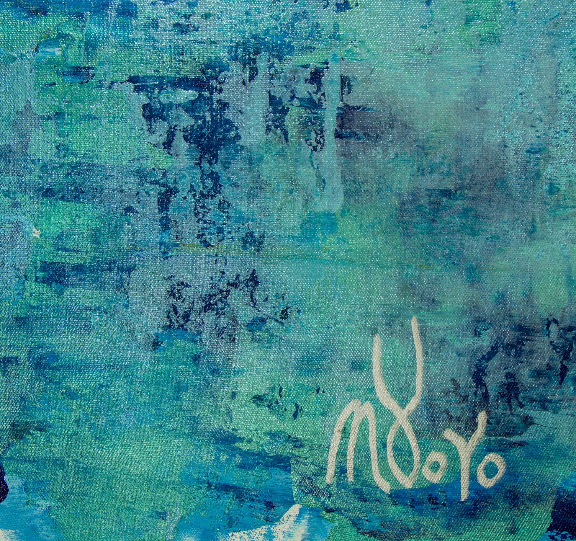 SOLD - Signature Detail / The Deepest Ocean (Turquoise spectra) 2 (2020) by Nestor Toro