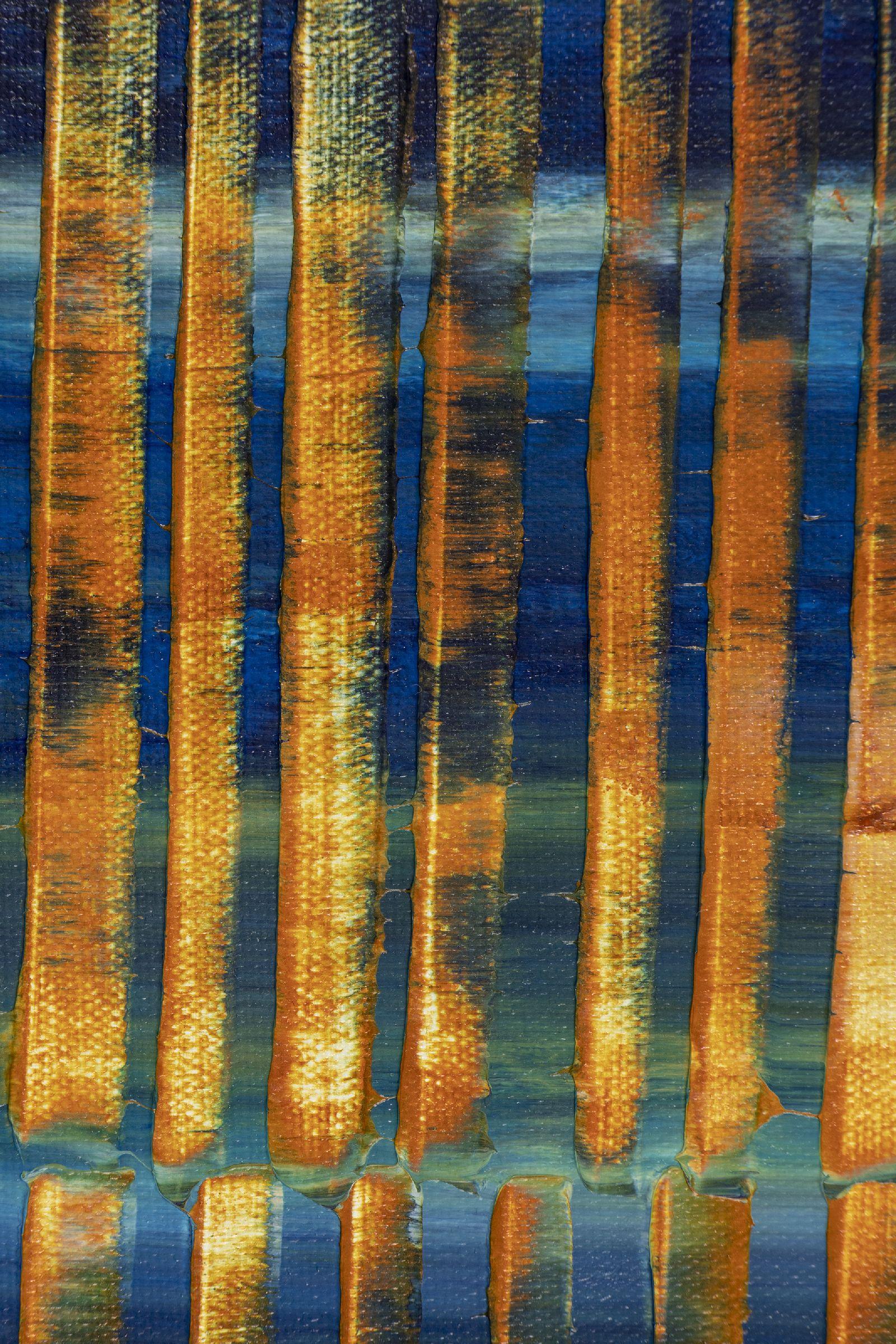Orange Panorama (Blue Reflections) 2 (2020) by Nestor Toro
