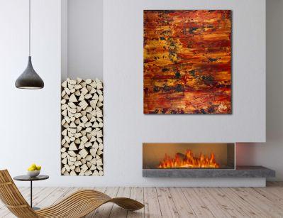 Room View - Fiery dimensions 3 (2020) by Nestor Toro