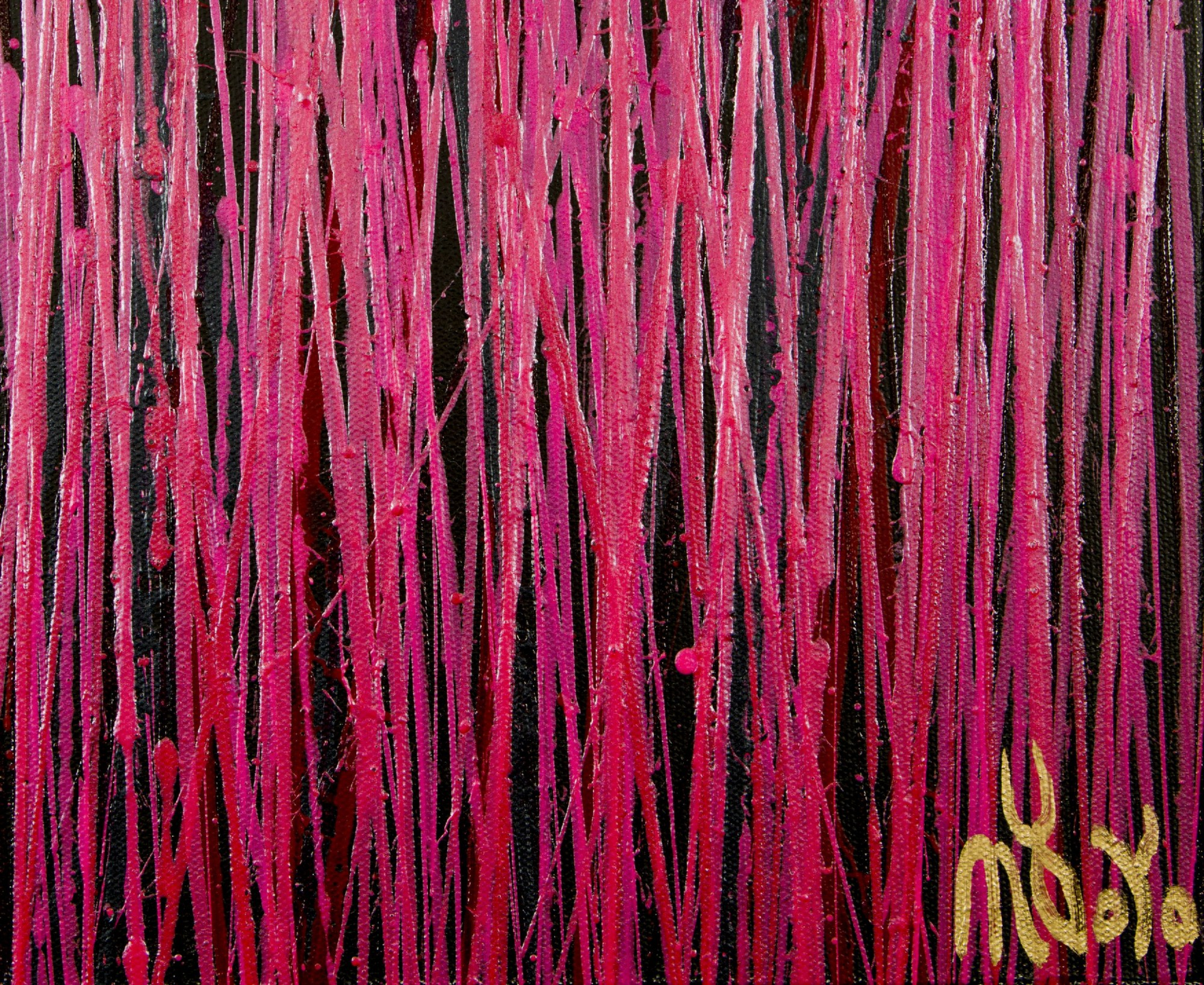 Signature Detail / Carmin Spectra ( Florescent garden) 2 (2020) / Triptych