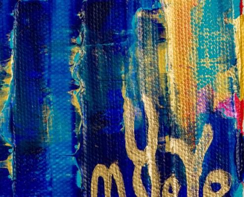 Signature / SOLD - Breeze Intrusion (Gold Cracks) 2020 / Triptych by Nestor Toro