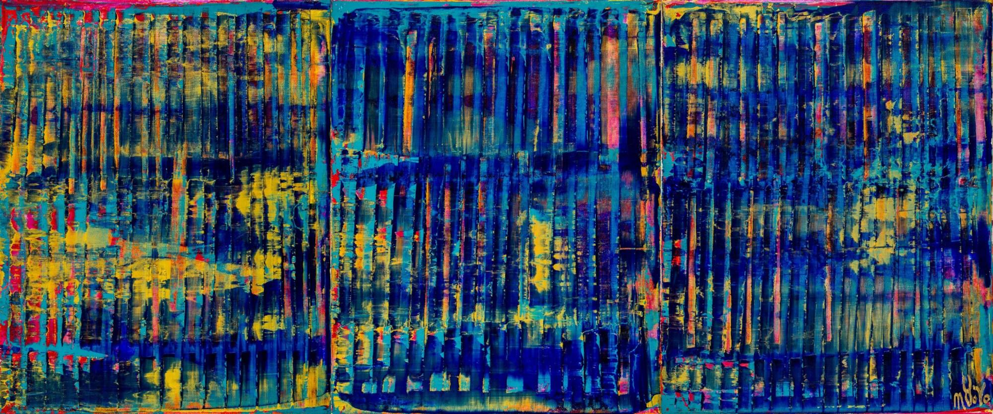 Breeze Intrusion (Gold Cracks) 2020 / Triptych by Nestor Toro