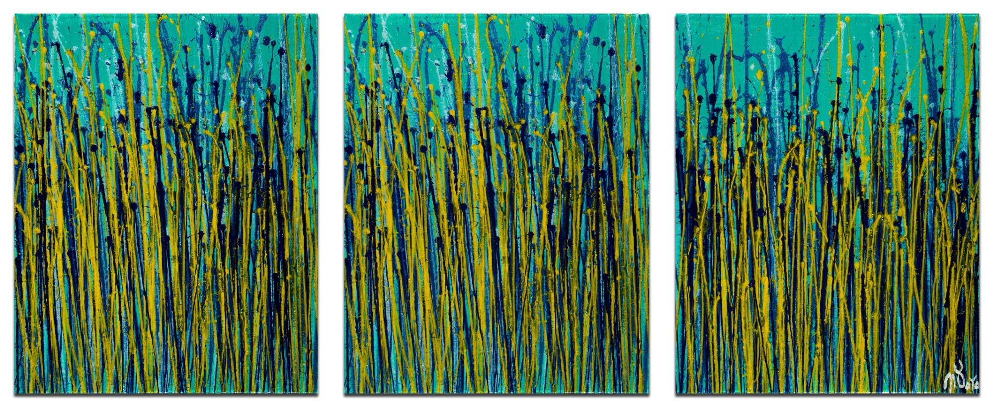 Vernal Garden (With Green) (2020) / Triptych by Nestor Toro