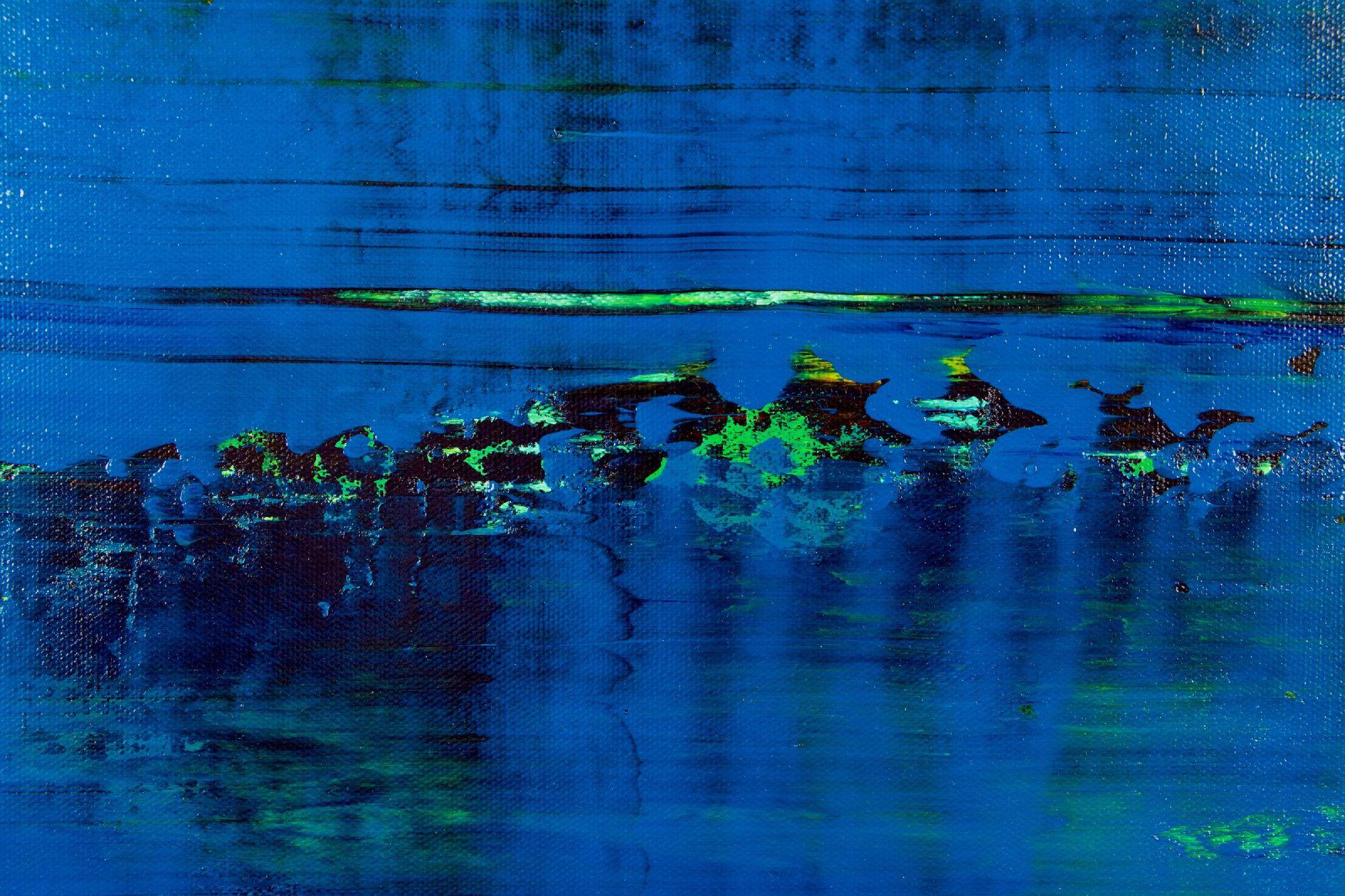 SOLD / Detail - St. Barts (Caribbean ocean coast) 2 (2020) by Nestor Toro