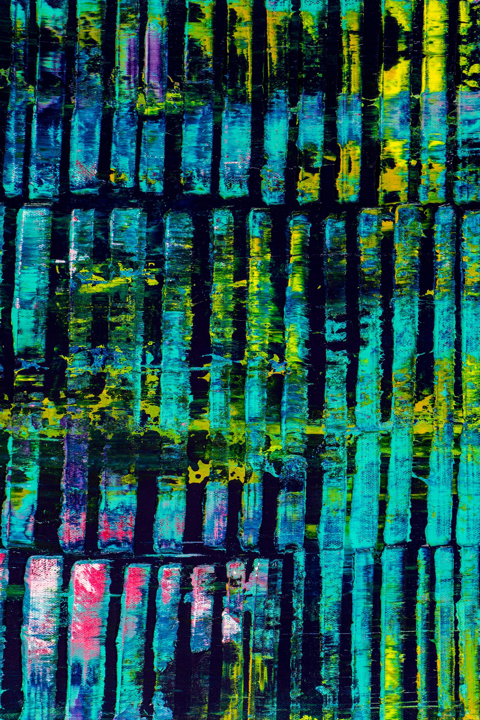 Detail - Modern spectra and lights (With Teal) (2020) by Nestor Toro