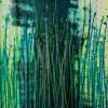 SOLD / Vernal Garden (With Green and Silver) (2021) Canvas 2 - Triptych / Artist - Nestor Toro