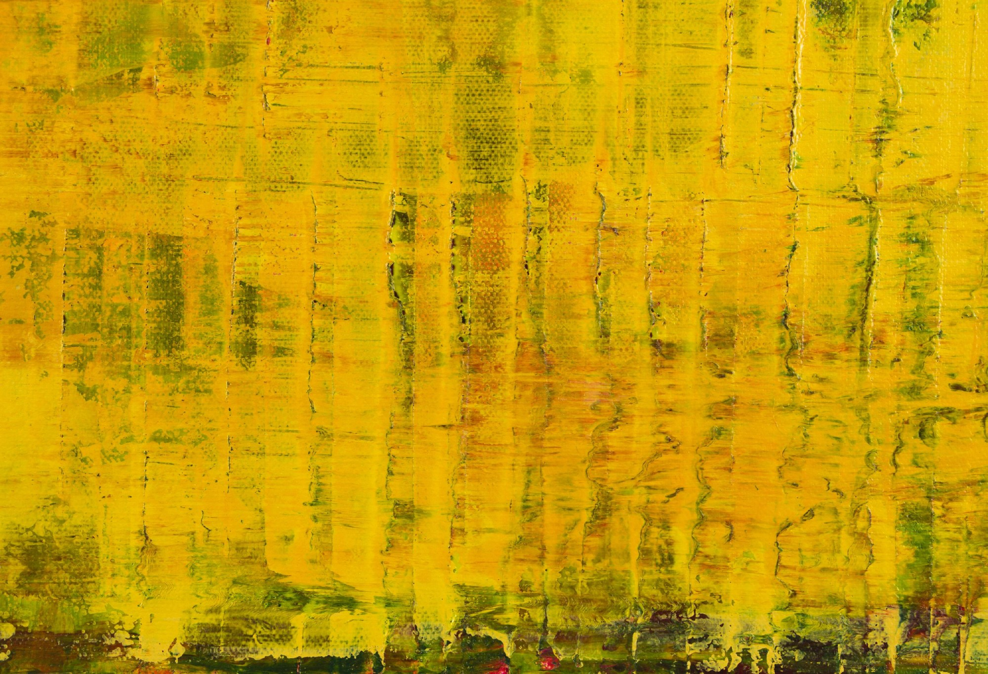 Detail / Yellow Reunion (Lost Lights) (2021) - 24x36 inches /Artist Nestor Toro