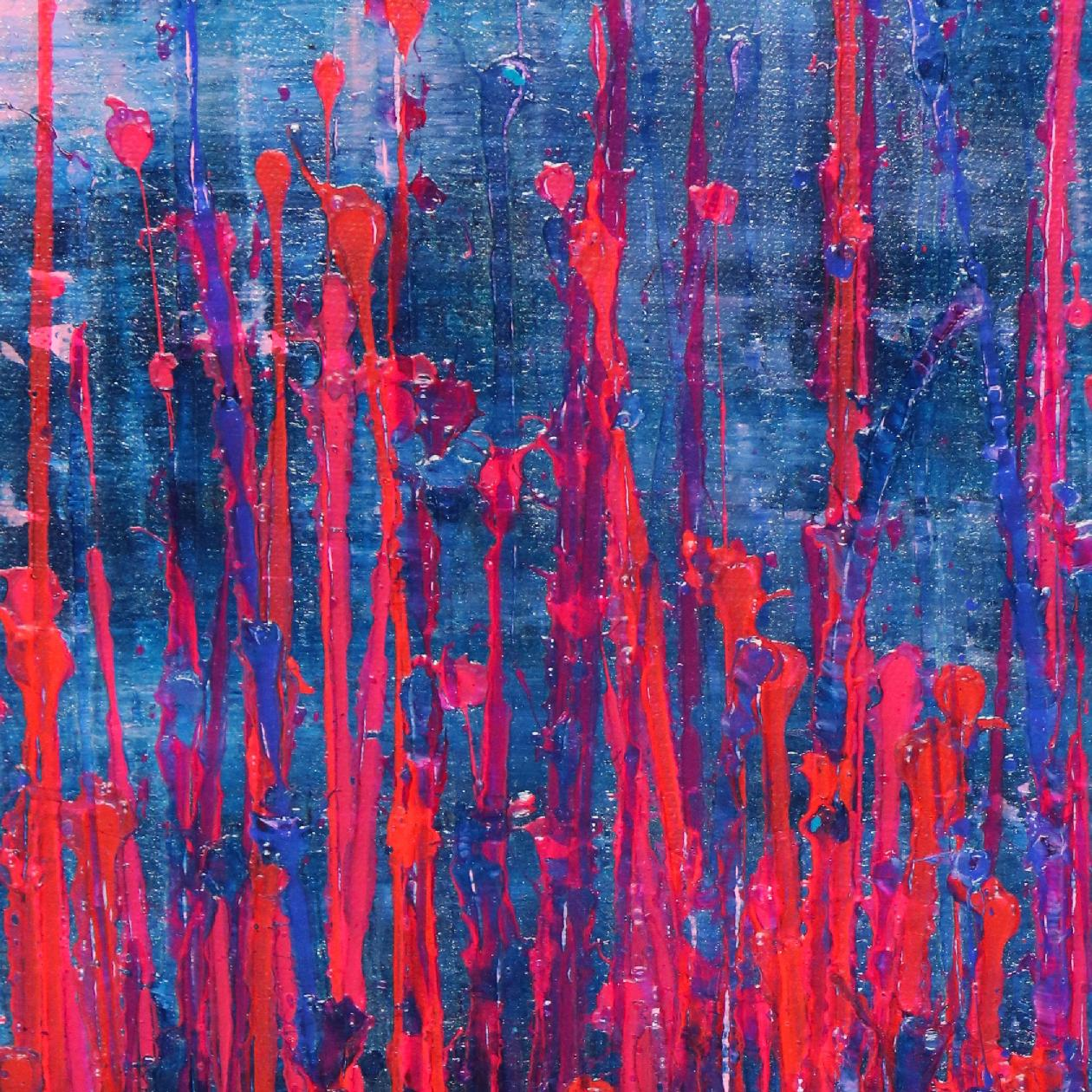 Detail - Pink takeover (over silver blue) (2020) by Nestor Toro
