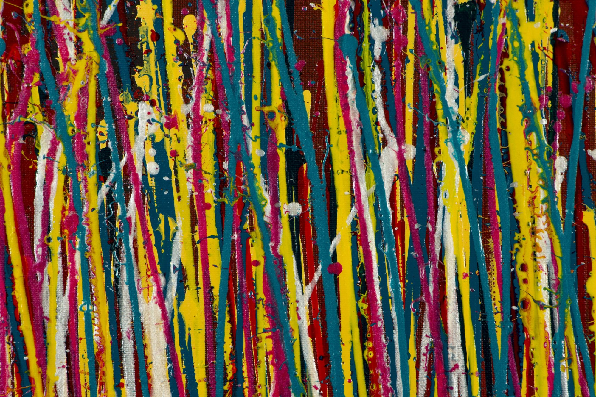 DETAIL / Natures Imagery (Scattering Colors) 2 (2021) / Triptych / Artist Nestor Toro