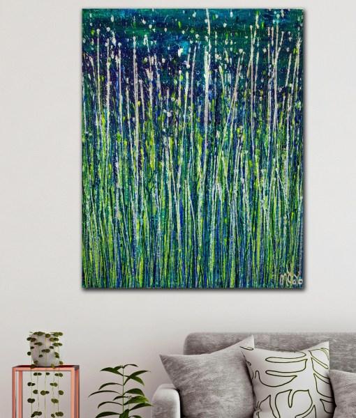 Room Example - Evergreen Garden (Silver Lights) (2020) by Nestor Toro