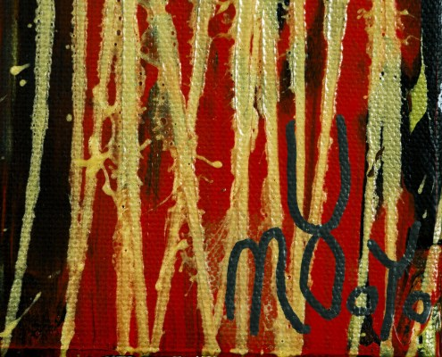 SOLD - A Closer Look (Gold Magnetism) (2021) / Triptych by Nestor Toro