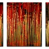 A closer look (Gold magnetism) (2021) / Triptych by Nestor Toro