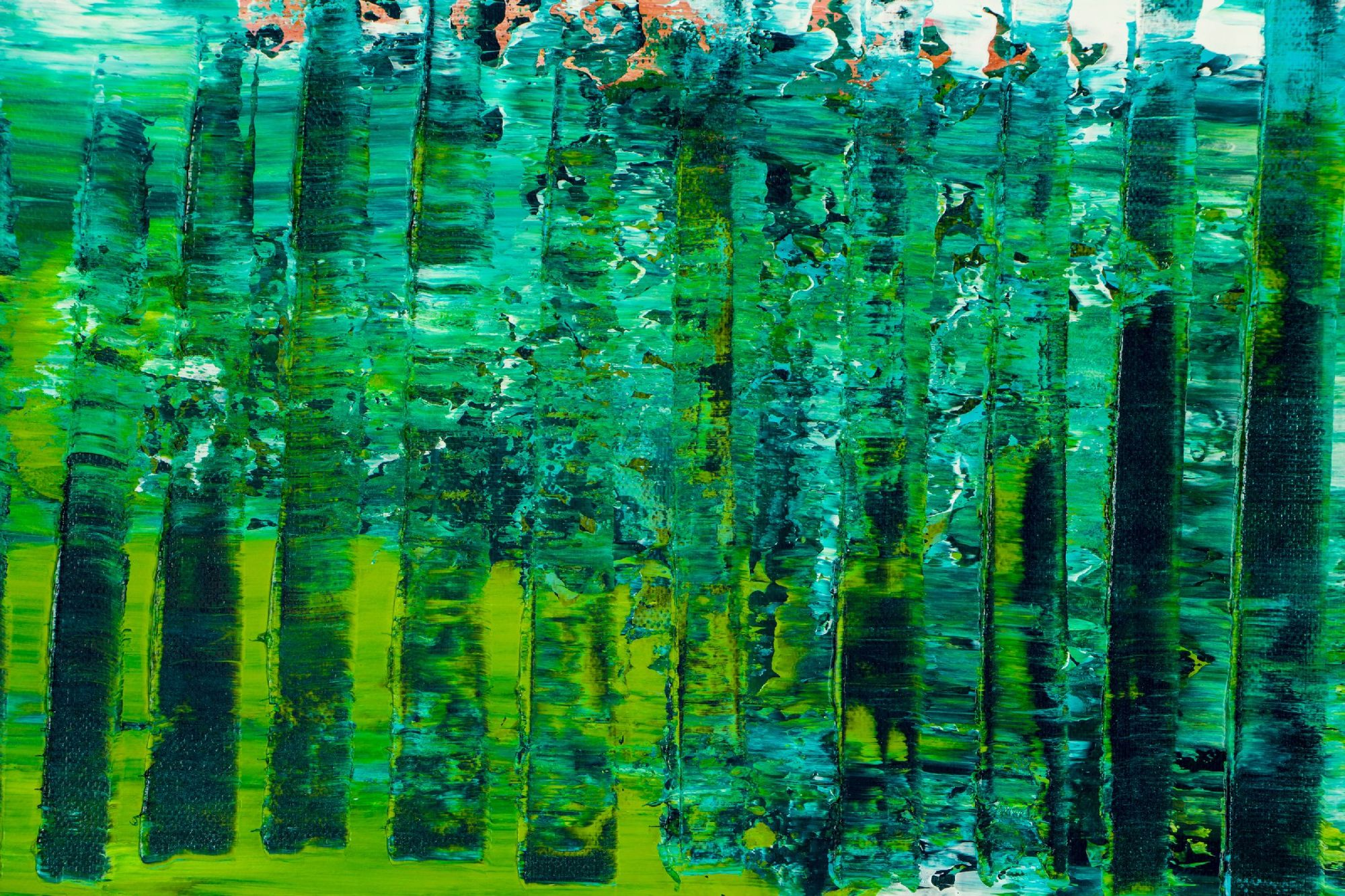 Detail / Forest Mirrors and Light 2 (2020) by Nestor Toro