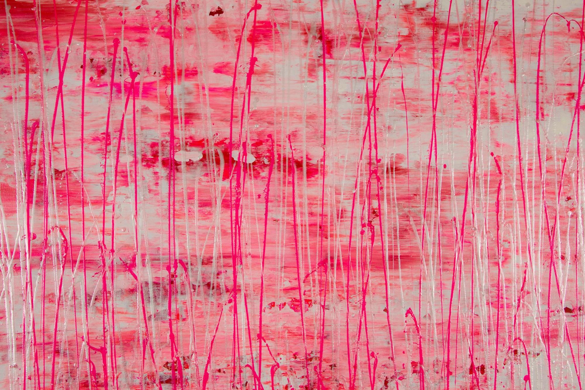 Iridescent Drizzles (Rain in pink) (2021) / Artist - Nestor Toro