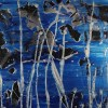 Supermoon (Silver drizzles) (2021) / Triptych / Detail