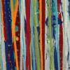 Drizzles Symphony 1 (2021) / Triptych 72x30 inches / DETAIL