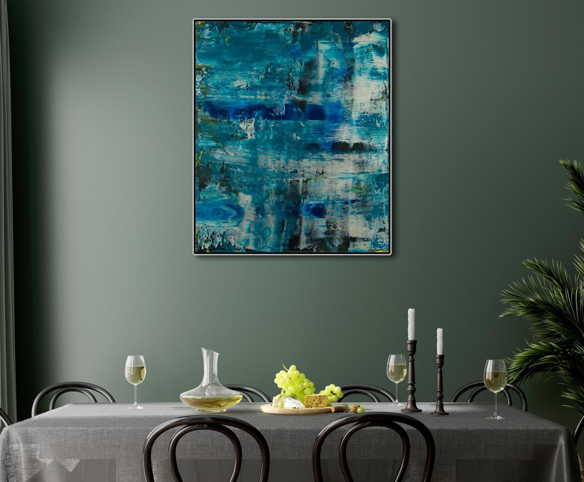 Room Setting (framed) / Frozen Waterflow (Ice ponds) (2021) / Artist: Nestor Toro USA