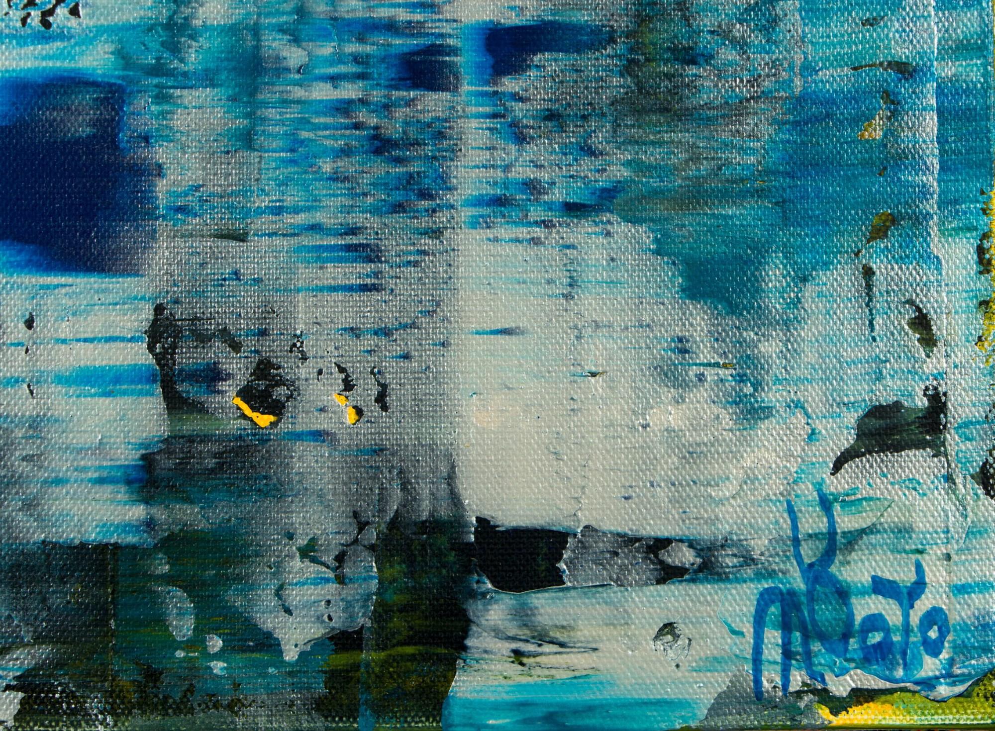 Signature / Frozen Waterflow (Ice ponds) (2021) / Artist: Nestor Toro USA